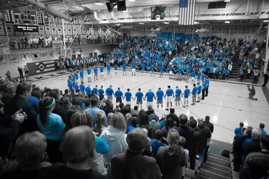 The+scene+before+the+Lakeville+North%2C+Lakeville+South+boys%27+basketball+game+on+Tuesday.+Photo+by+Nick+Lieser