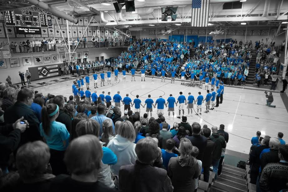 The scene before the Lakeville North, Lakeville South boys' basketball game on Tuesday. Photo by Nick Lieser