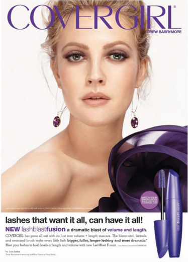 This ad for Cover Girl shows the ultimate It girl in todays world