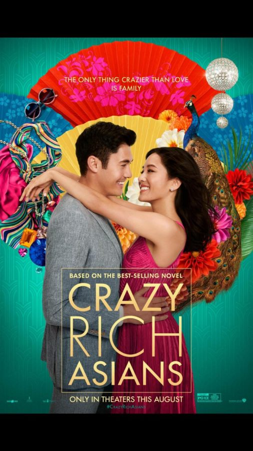 Nick+Young+and+Rachel+Chu%2C+snuggle+up+for+The+Crazy+Rich+Asians+movie+poster.+