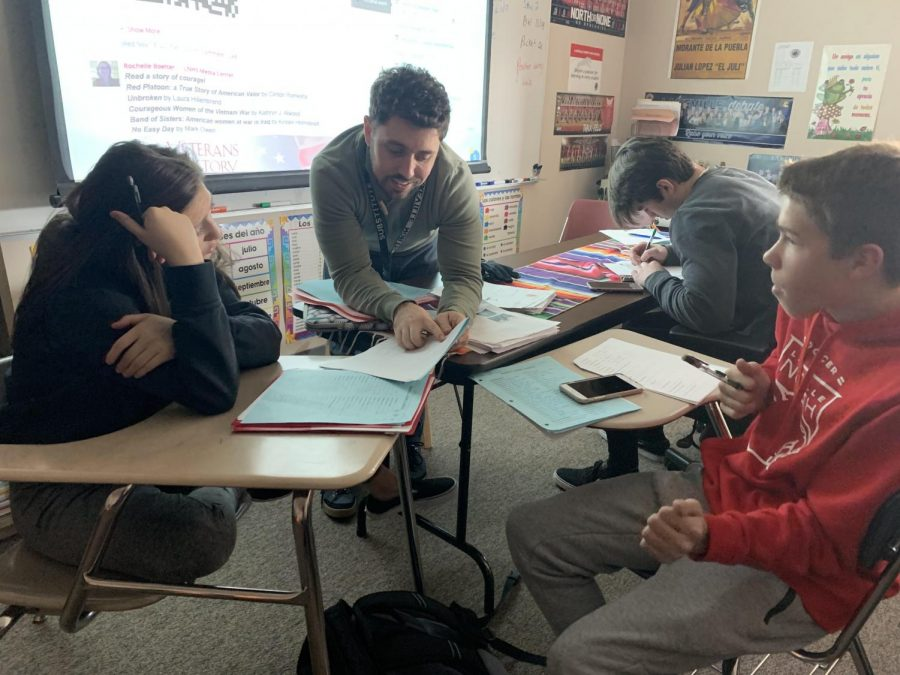 In+an+effort+to+understand+class+a+bit+better%2C+Mr.+Csargo%2C+helps+his+students+during+PASS.+